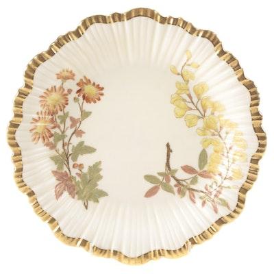 Royal Worcester Art Nouveau Porcelain Plate, 1890s