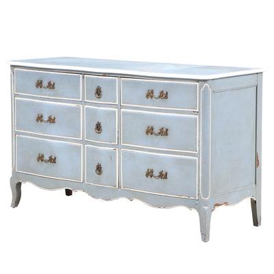 Davis Cabinet Company French Provincial Style Painted Dresser, Mid-20th Century