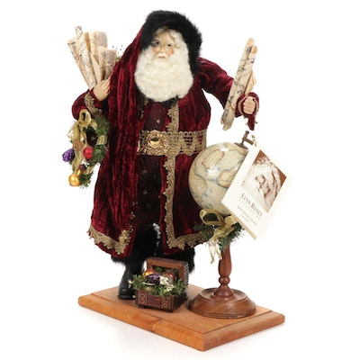 """Lynn Haney Collection """"Mapping Out A New Century"""" Santa Claus Figurine"""