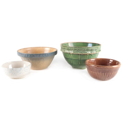 Stoneware Mixing Bowls, Early to Mid-20th Century
