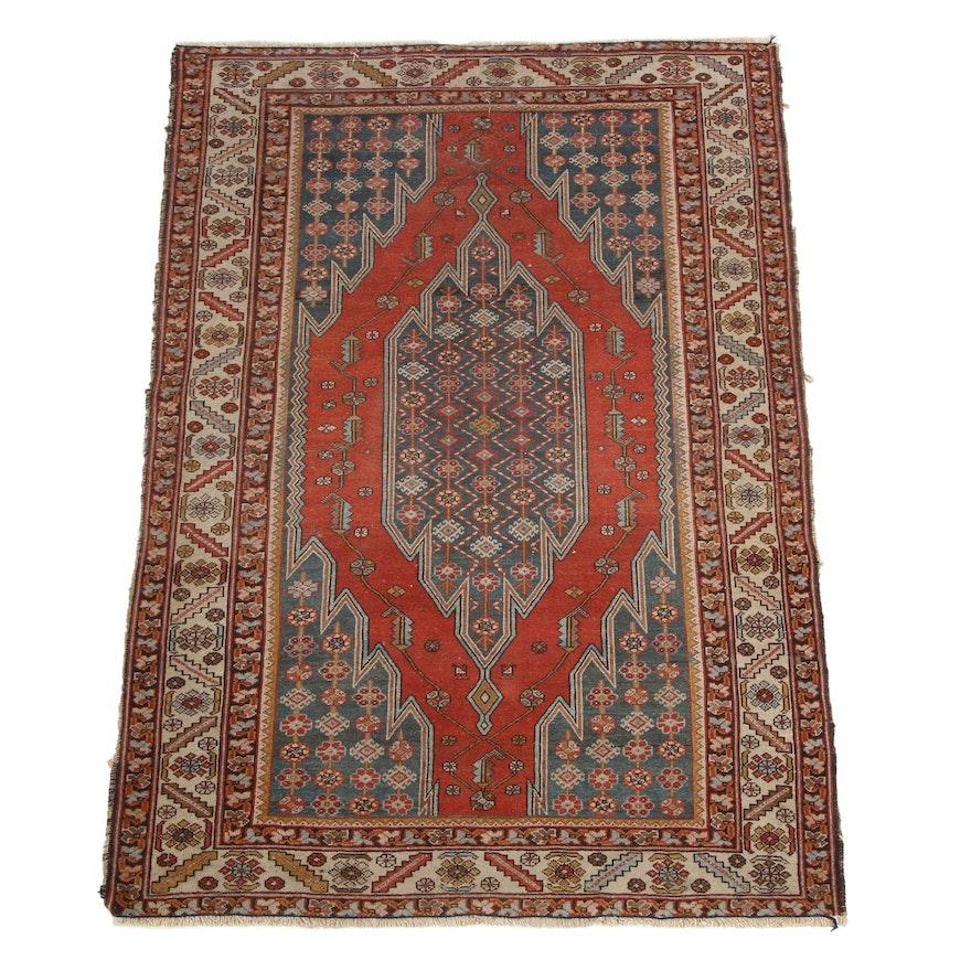 4'3 x 6'2 Hand-Knotted Northwest Persian Zanjan Area Rug
