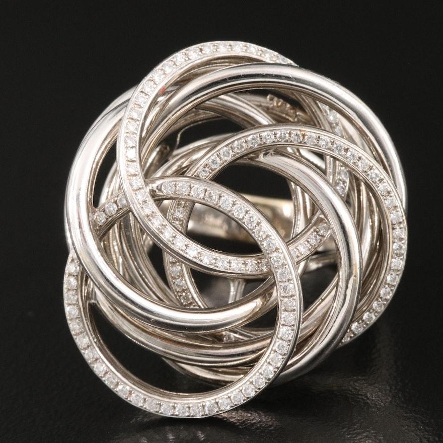 Birks 18K 0.60 CTW Diamond Knot Ring