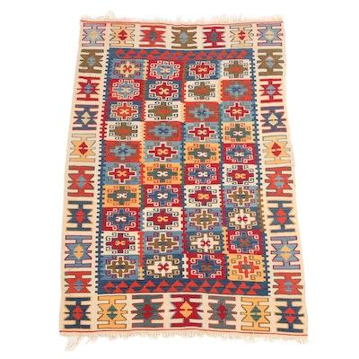 3'6 x 5'9 Handwoven Turkish Kilim Area Rug