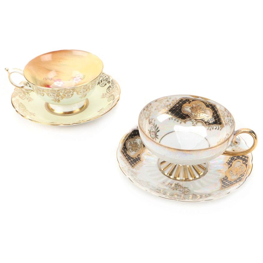 Royal Sealy China and Paragon Bone China Tea Cups and Saucers