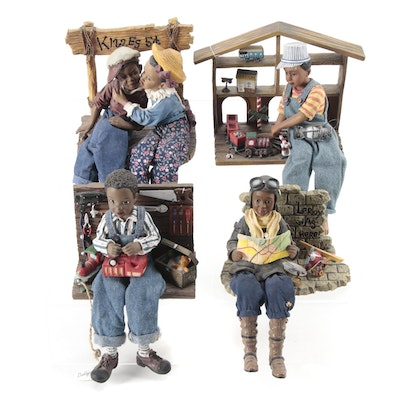 """Daddy's """"Kissing Booth"""" and Other Cast Resin Figurines"""