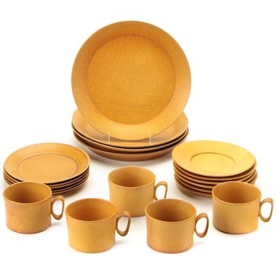 "Bennington Potters ""Tawny"" Matte Gold Dinnerware, 1960s"