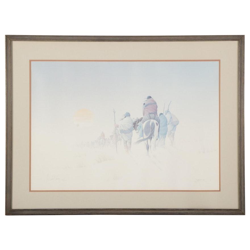 "Donald Vann Offset Lithograph ""Wayfaring,"" Circa 1985"