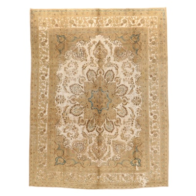 9'9 x 12'10 Hand-Knotted Persian Overdye Room Sized Rug