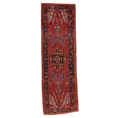 3'6 x 10'11 Hand-Knotted Persian Heriz Long Rug