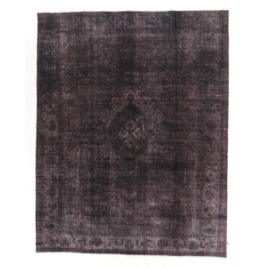 9' x 11'7 Hand-Knotted Persian Overdyed Room Size Rug