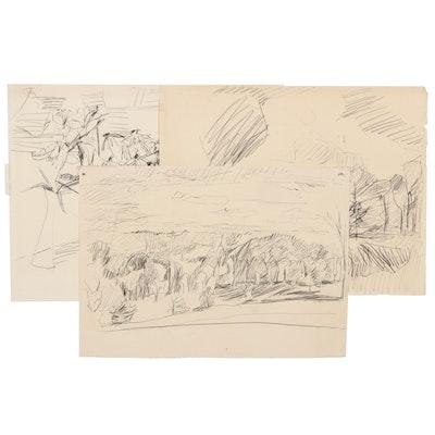 Betty Klavun Graphite Drawings, Late 20th Century