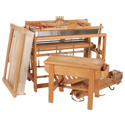 Gilmore Looms Wooden Hobby Loom and Bench