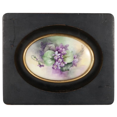 William Guérin & Co. Hand-Painted Porcelain Plaque, Early 20th Century