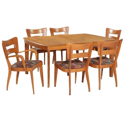 Heywood-Wakefield Mid Century Modern Dining Table and Chairs, Mid 20th Century