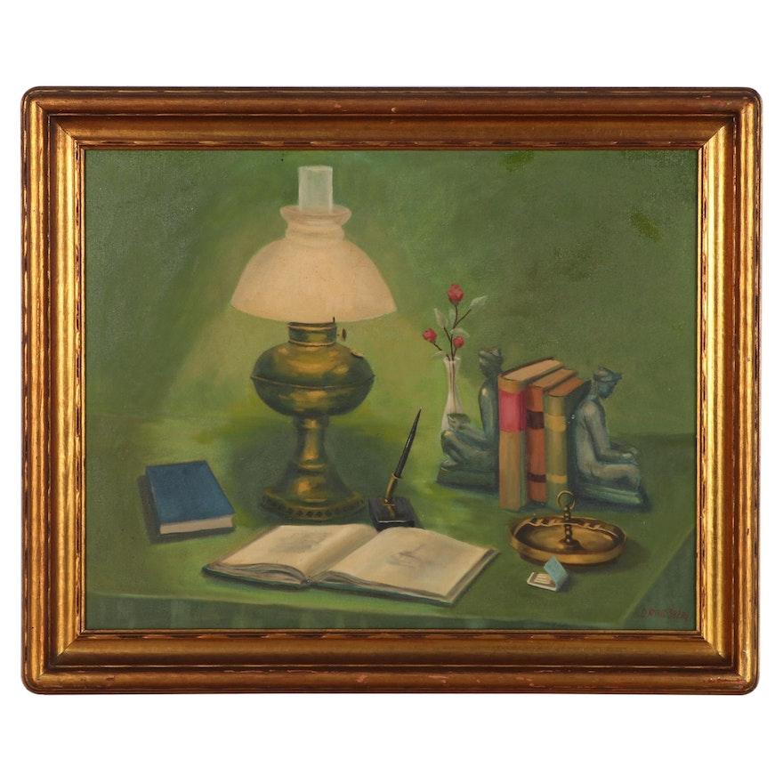 Helen Rindsberg Still Life Oil Painting, Mid-20th Century