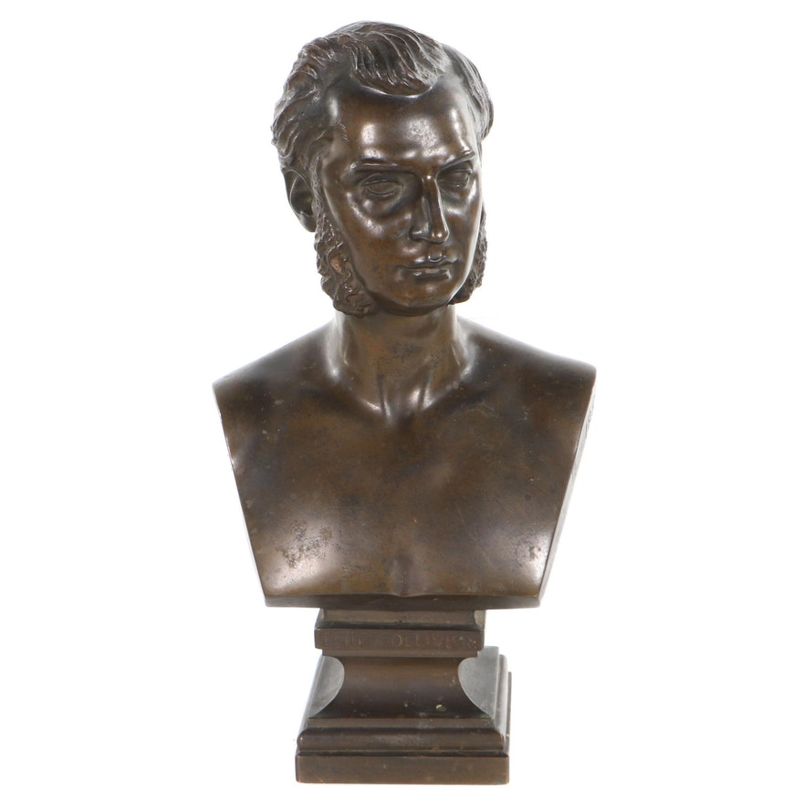 Bronze Bust Sculpture of Émile Ollivier