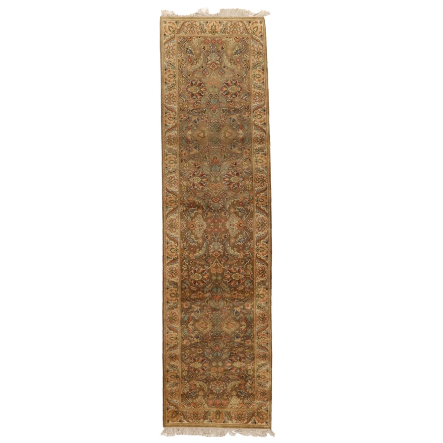 3'1 x 12'3 Hand-Knotted Indian Agra Long Rug