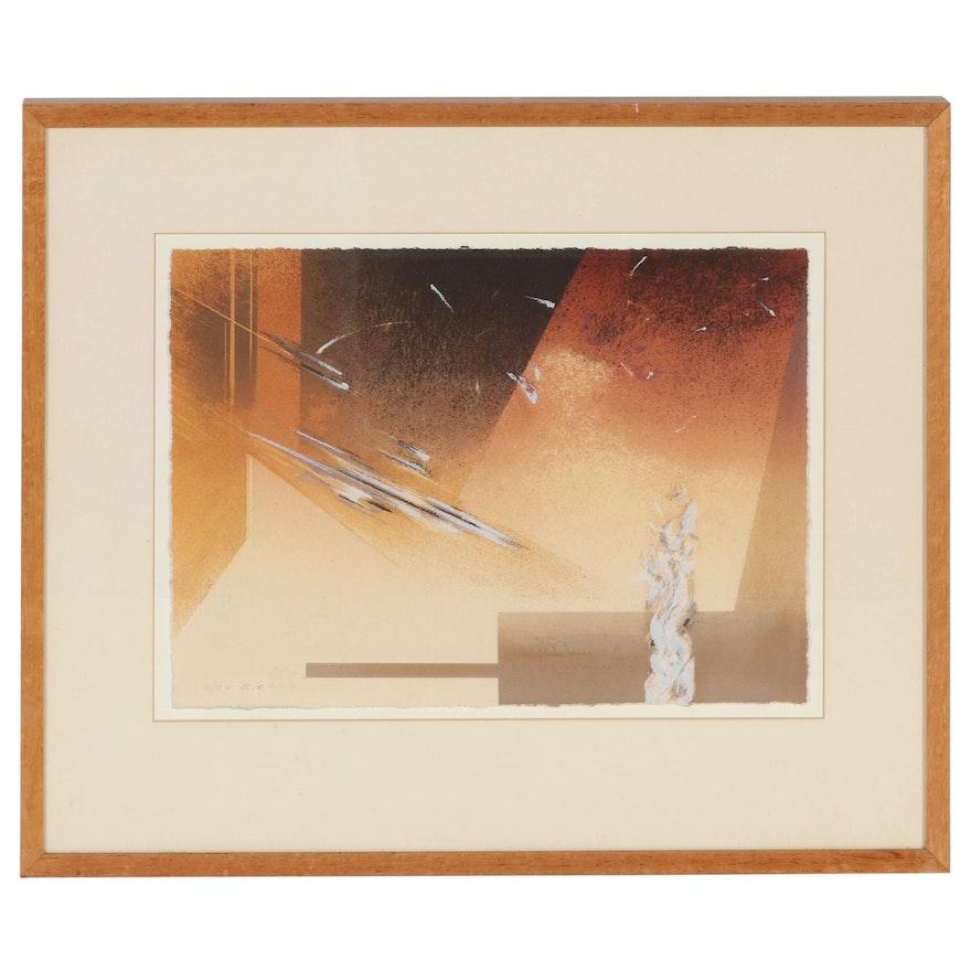 Gustavo Arias Murueta Abstract Serigraph, Circa 2000