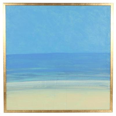 "Oil Painting ""Fair Harbor,"" 1985"
