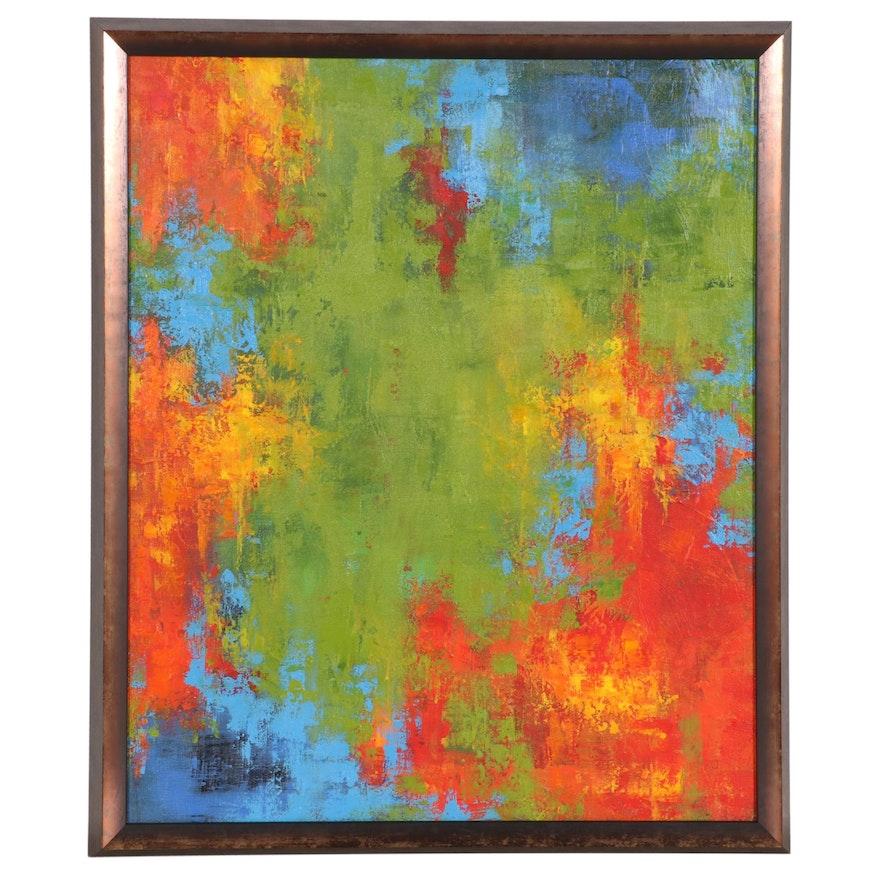 Sanna Abstract Acrylic Painting, 2016