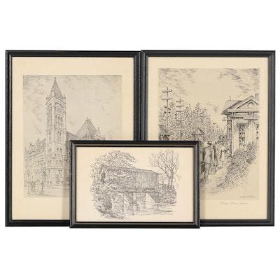 George Williams Lithograph And Halftones After Caroline Williams of Cincinnati