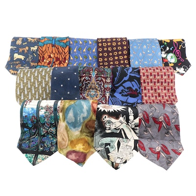 Picasso, Structure, Perry Ellis, Banana Republic and Other Patterned Neckties