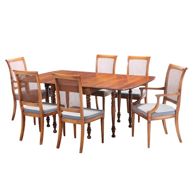 Stanley Furniture Drop Leaf Dining Set with Insert Leaves