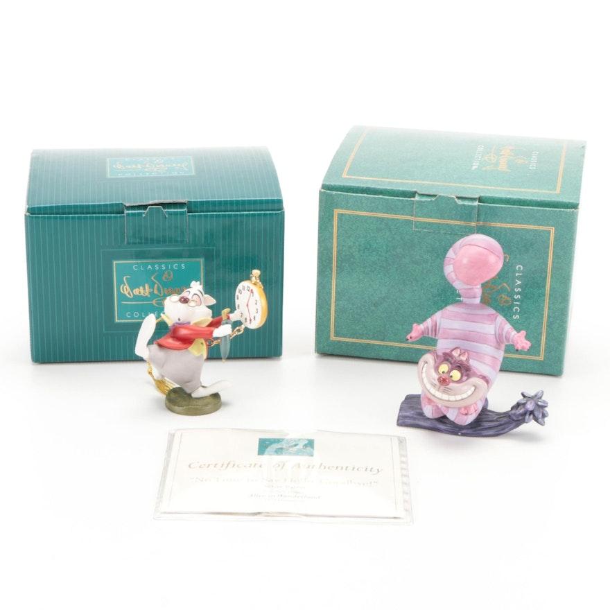 "Walt Disney Classic Collection ""Alice in Wonderland"" Ceramic Figurines"