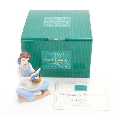 "Walt Disney Classic Collection ""Belle-Bookish Beauty"" Ceramic Figurine"