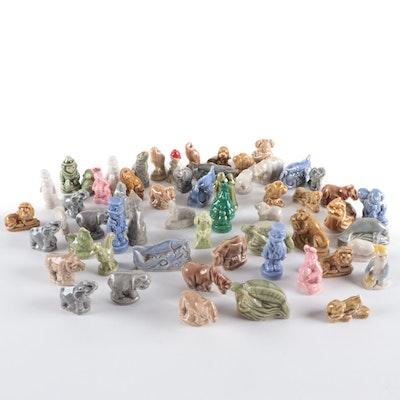 Wade Whimsies Miniature Porcelain Figurines, Mid-20th Century