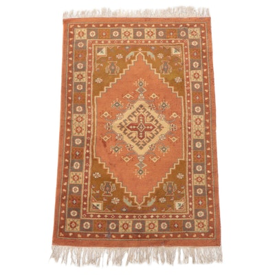 4'1 x 6'11 Hand-Knotted Romanian Turkish Dazkiri Style Area Rug