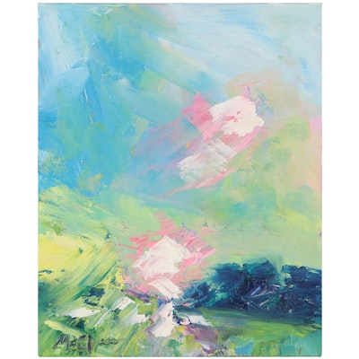 """Claire McElveen Oil Painting """"First Sun Rays,"""" 2021"""