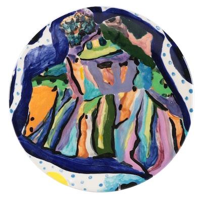 "David McCullough ""All That Jazz"" Ceramic Plate, 1991"