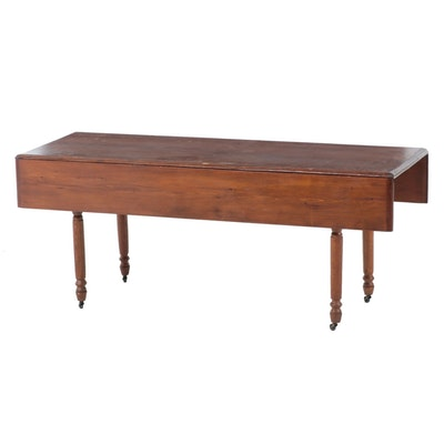 American Primitive Pine and Oak Harvest Table, Late 19th/Early 20th Century