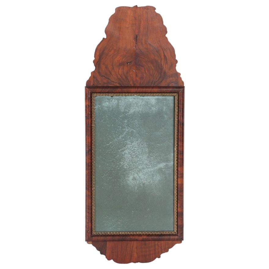 Queen Anne Walnut and Parcel-Gilt Mirror, Possibly Dutch, 18th Century