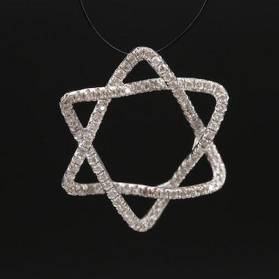 14K 0.50 CTW Diamond Star of David Pendant