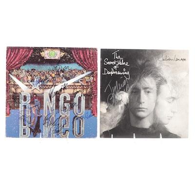 George Harrison, Ringo Starr, Levon Helm, Marc Bolan, Other Signed Vinyl Records