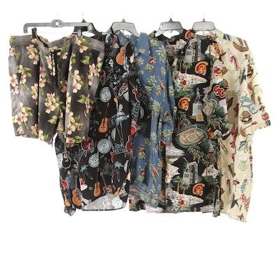 Men's Ray Spooner Hawaiian Shirts with Tommy Bahama Swim Trunks