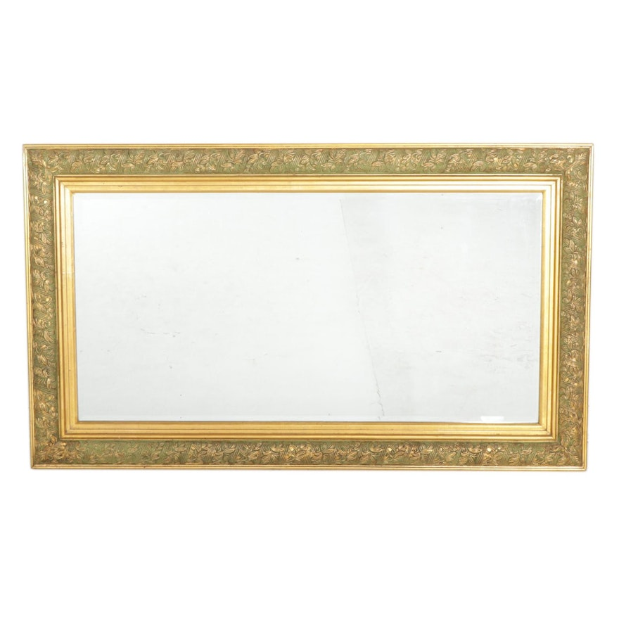 Rectangular Giltwood and Gesso Wall Mirror