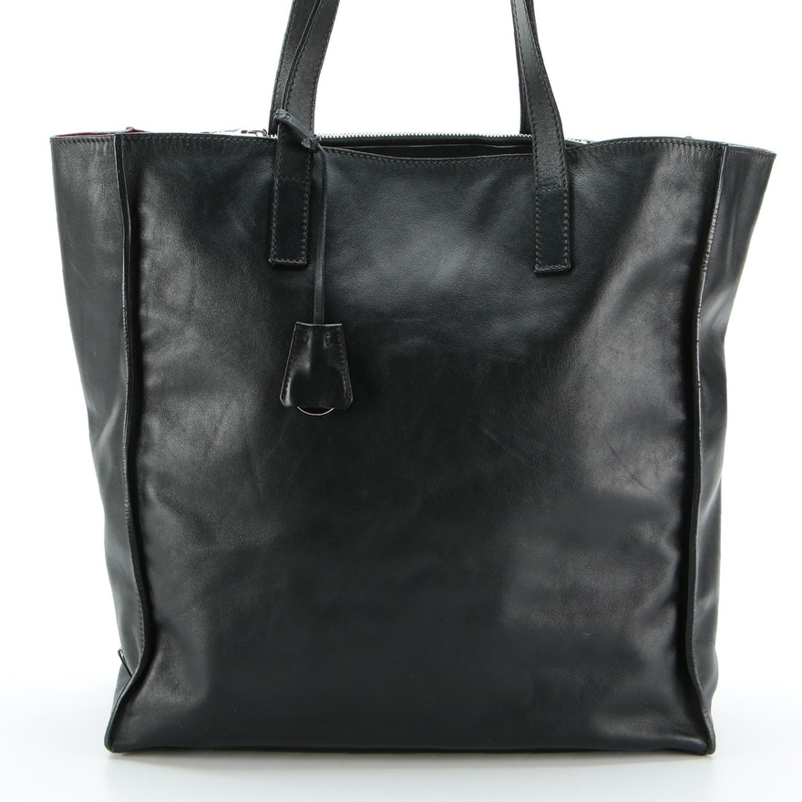 Prada Unstructured Tote Bag in Black Soft Leather