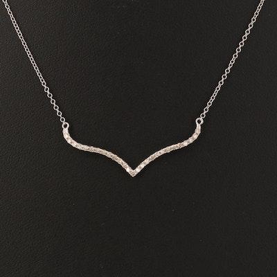 14K 0.23 CTW Diamond Chevron Necklace