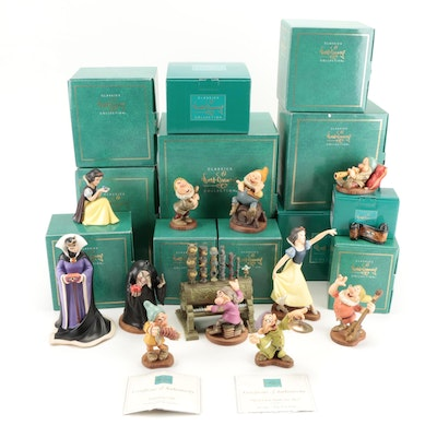 """Walt Disney Classics Collection """"Snow White and the Seven Dwarves"""" Figurines"""