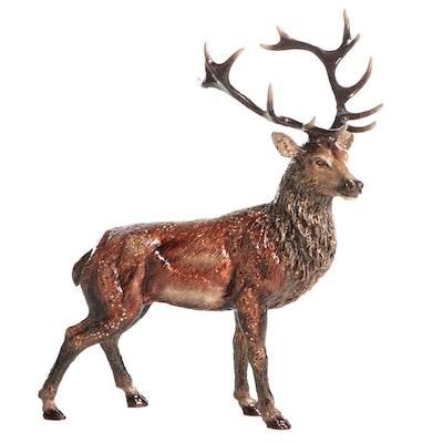 Jay Strongwater Rhinestone Embellished Stag Figurine