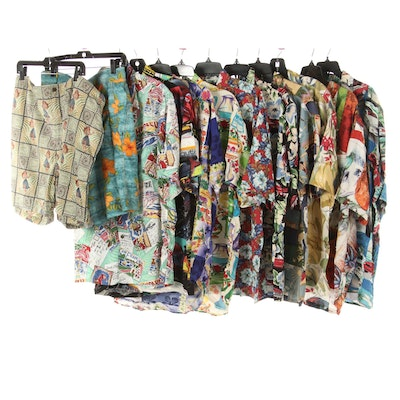 Men's Tommy Bahama Swim Trunks and Shirts with Reyn Spooner and Jams World