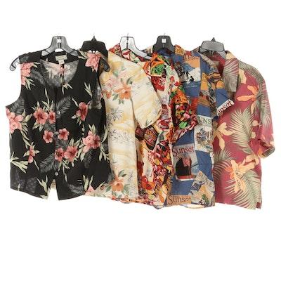 Tommy Bahama, Reyn Spooner and Jams World Hawaiian Shirts and Sleeveless Top