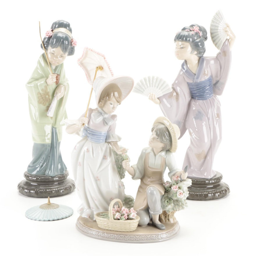 """Lladró """"For You"""" Designed by Francisco Catalá and Other Porcelain Figurines"""