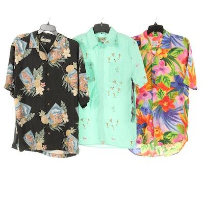 Men's Tommy Bahama Silk, Jams World and Altamont Hawaiian Shirts