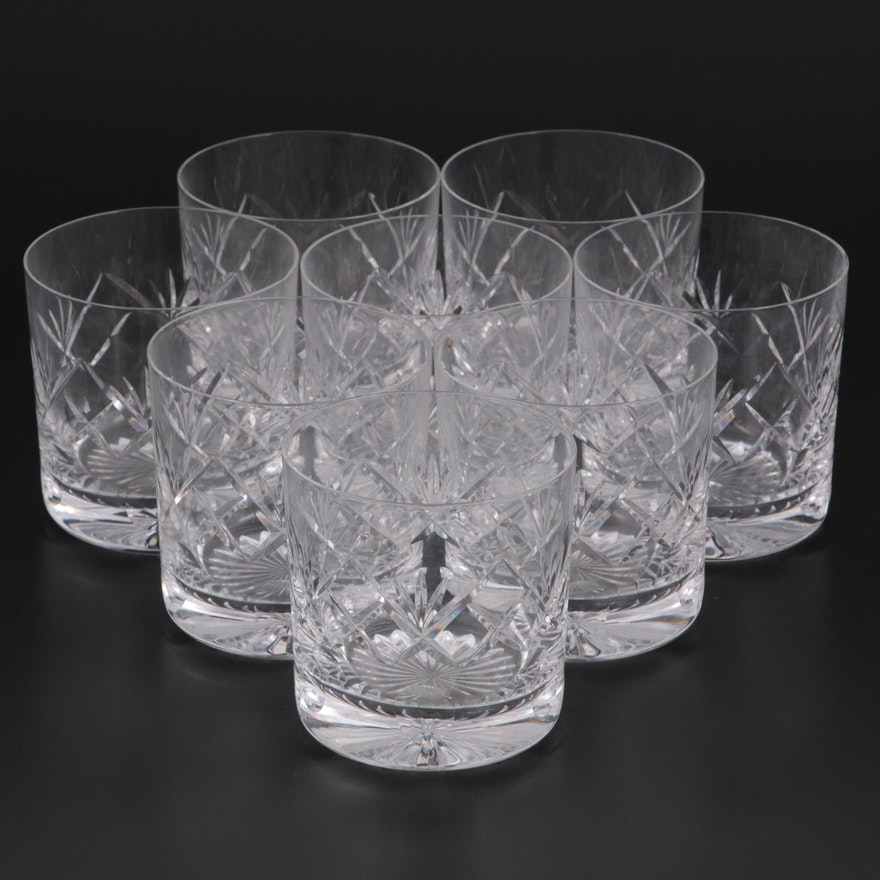Tudor Cut Crystal Old Fashioned Glasses