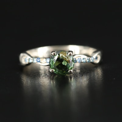 14K Tourmaline and Sapphire Ring