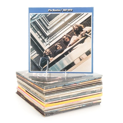 The Beatles, The Rolling Stones, The Monkees and Other Rock Vinyl Records